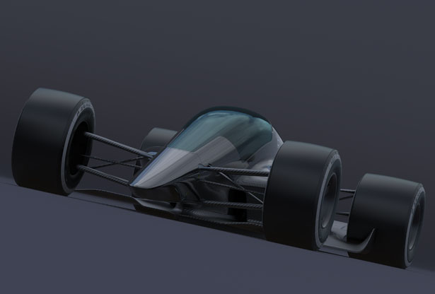T1 Turbine Closed Cockpit Racecar Concept by Andries Van Overbeeke