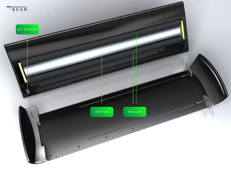 tScan sleek and compact scanner concept