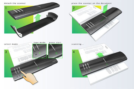 tScan portable sleek scanner concept