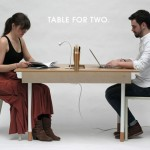 Table for Two : Transform Your Table from Workstation for Two to A Dining Table for Six in Seconds