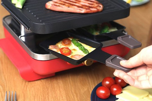Tabletop Raclette Multi-Function Electric Grill and Hot Plate