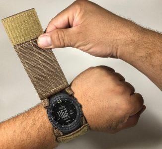 Tactical Military Watchband Cover Protects Watch Screen Against Harsh Environments
