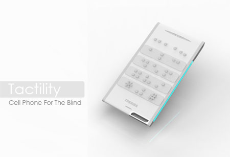 tactility cell phone for blind people