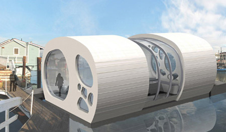 Tafoni Floating Home Can Enhance Water Living Experience