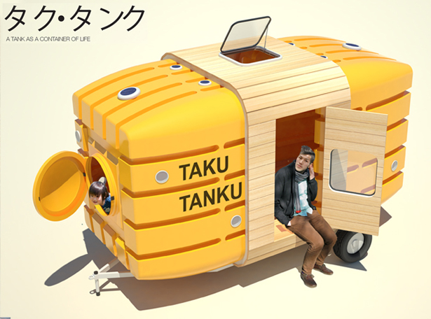 Taku Tanku Traveling Little House Made Out of Water Tank
