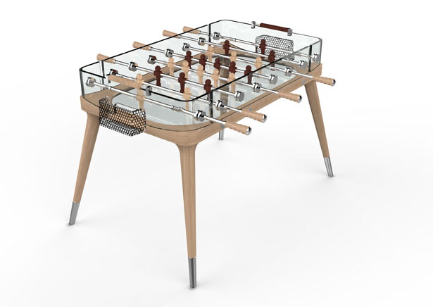 Teckell 90-degree Minuto Foosball Table