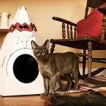 Teepee : A Modern Cat House Made Of Cardboard