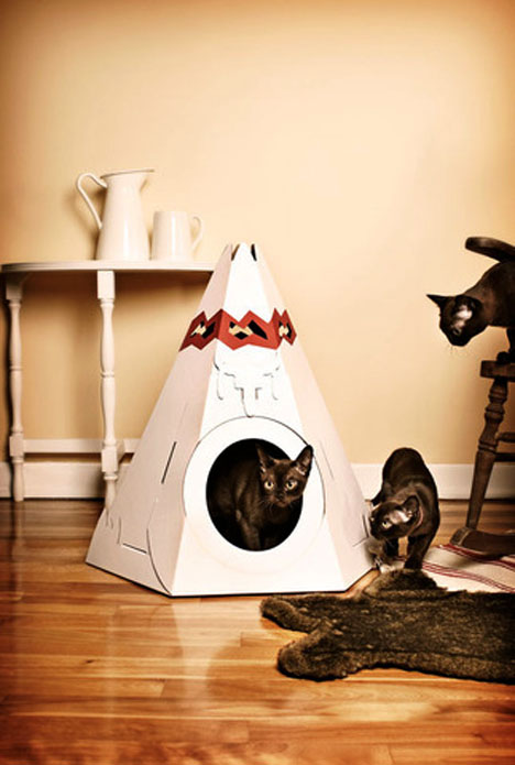 Teepee A Modern Cat House Made Of Cardboard Tuvie