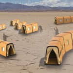 Telescopic Tent : Modular Emergency Tent Made of Elastic Waterproof Nylon material
