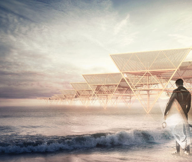 Laterns Sea Village : Temporary Housing Proposal for Surfers in Tarita