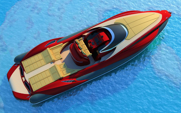 Tender Capri 13m Boat by Alessandro Pannone Architect