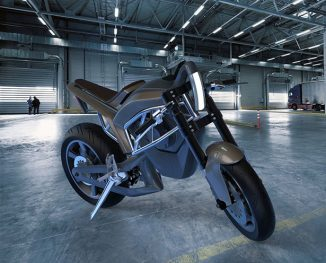 Futuristic Tesla Inspired e-Motorcycle Concept for Daily Commuting in The City