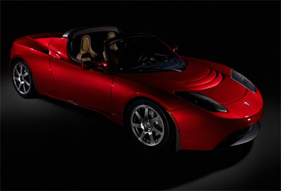 fully electric tesla roadster