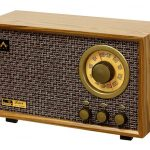 Hand-crafted Tesslor R301 Retro-style Tabletop AM/FM Hi-Fi Radio with Bass and Treble Control