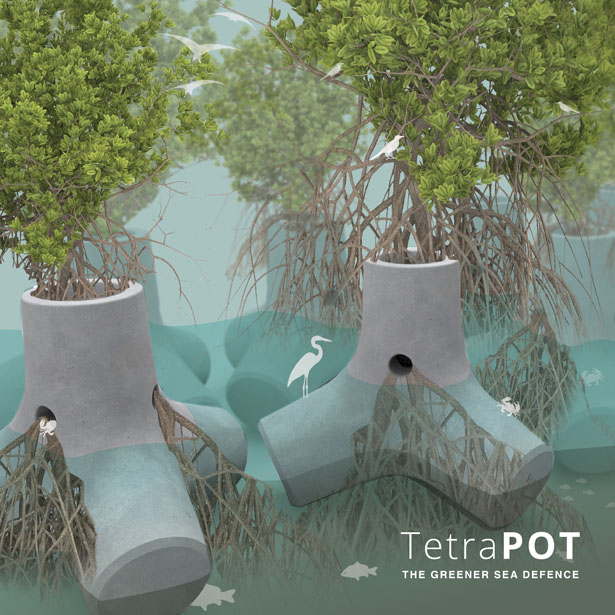 Tetrapot Greener Sea Defense by Sheng-Hung Lee and Wan Kee Lee