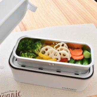 Thanko Two-Tier One-Person Rice Cooker Doubles as a Lunchbox