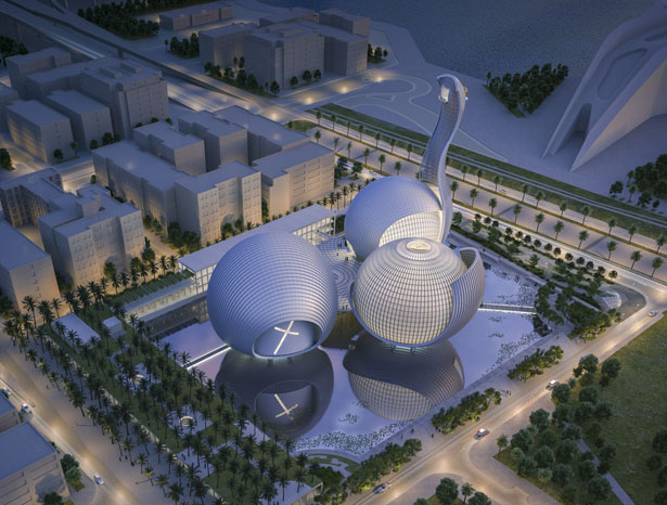 The Abrahamic Family House for Saadiyat Island Cultural District by Safdie Architects