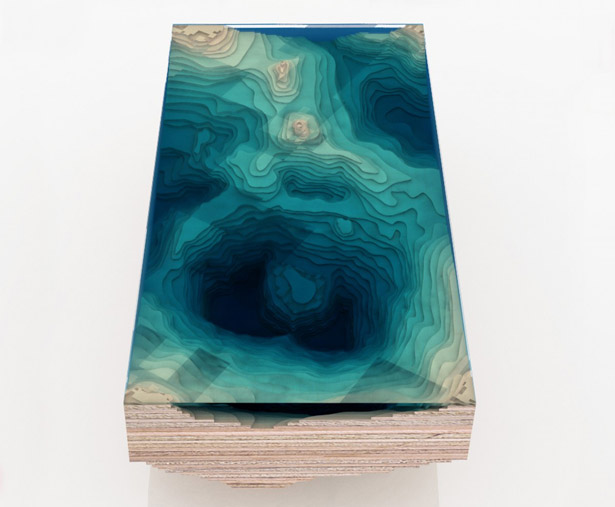 The Abyss Table Presents You The Beautiful Depths of The Ocean in A Form of Coffee Table