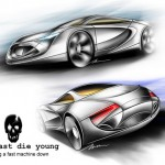Black Coffin Car Design by Imran Othman