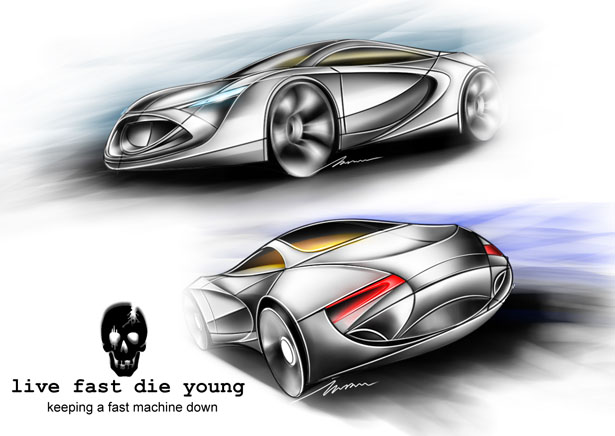 The Black Coffin Car Design