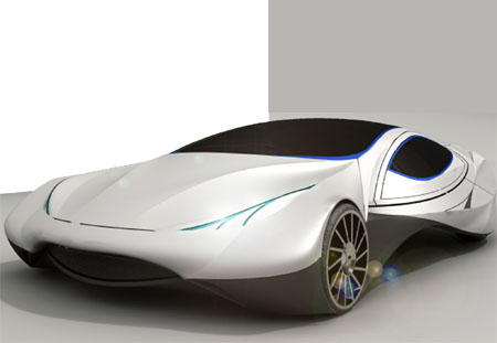 The Concept Car Features Aerodynamic Beauty with Great