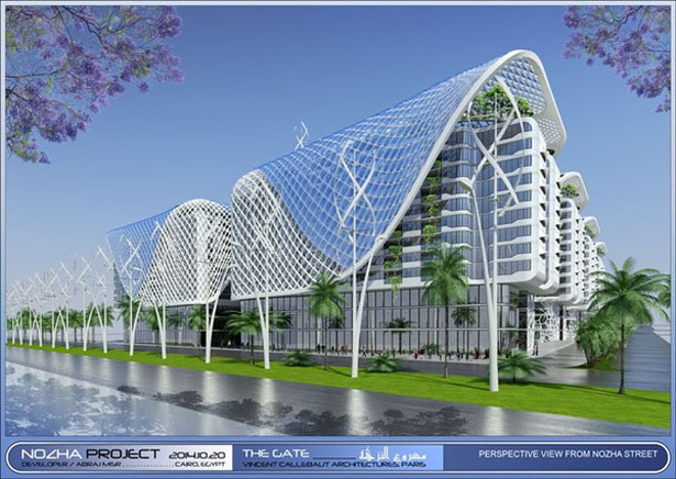 The Gate Residence by Vincent Callebaut Architects