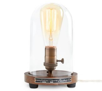 The Original Bell Jar Table Lamp Adds Industrial Charm to Any Space