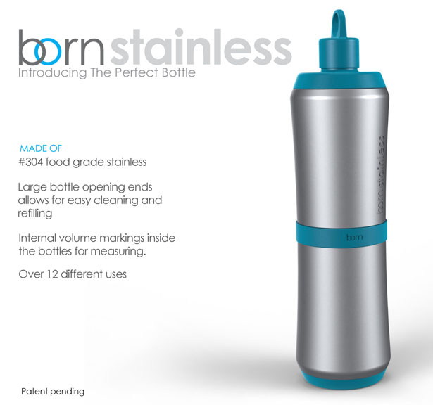 The Perfect Bottle Born Stainless Collection