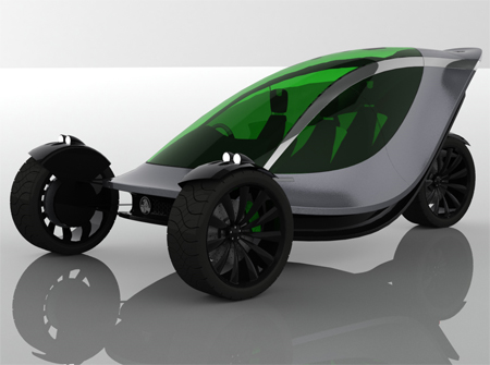 The SV1 Futuristic Car Provides Fun and Stylish Urban Commuting