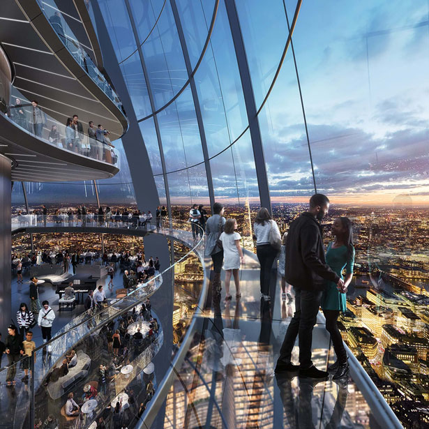 The Tulip: Futuristic Public Cultural and Tourist Attraction Proposal for The City of London