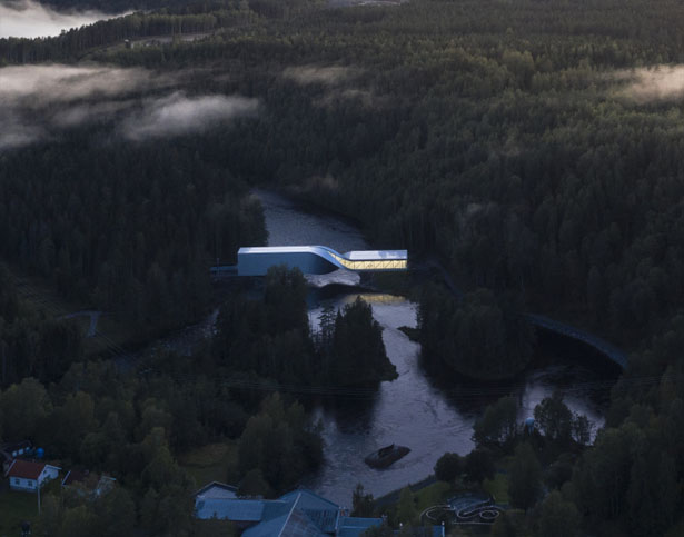 The Twist Bridge at Kistefos Sculpture Park In Norway by BIG
