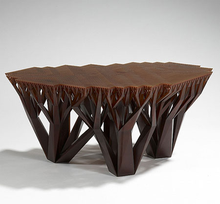 The unique and stylish fractal mgx coffee table creates a for Unusual coffee tables
