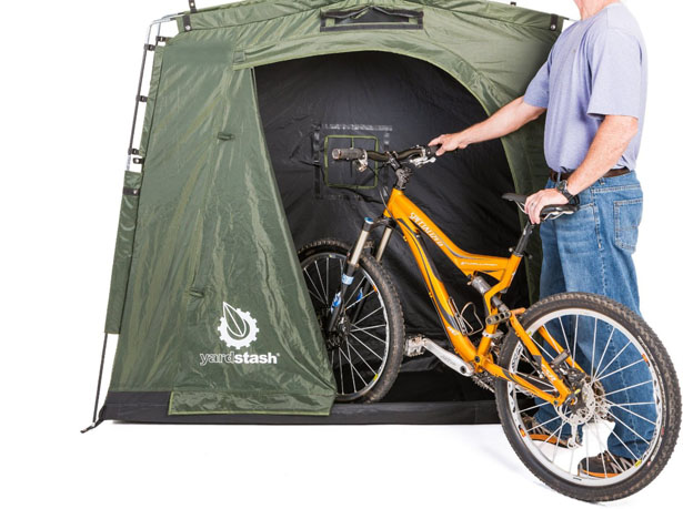 The YardStash III - Portable, Space Saving Outdoor Bike Storage