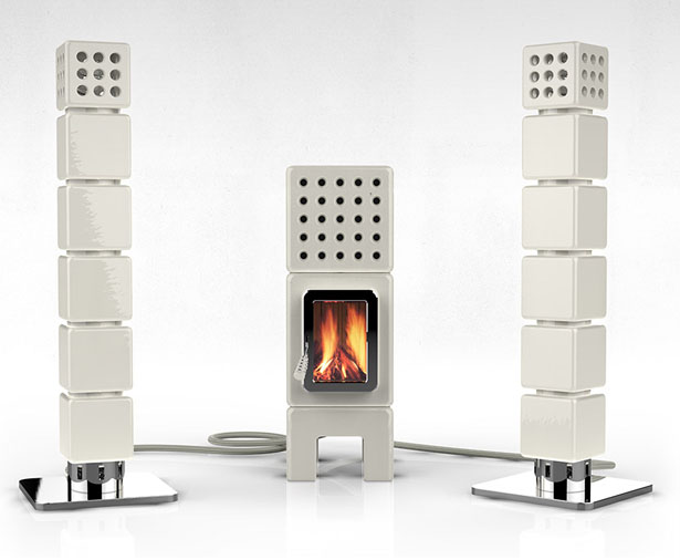 ThermoStack Stove Centered Heating System by Adriano Design