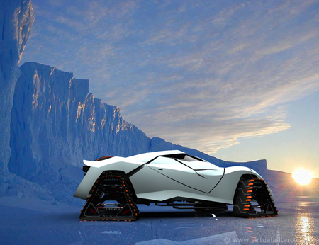 think frost futuristic car concept