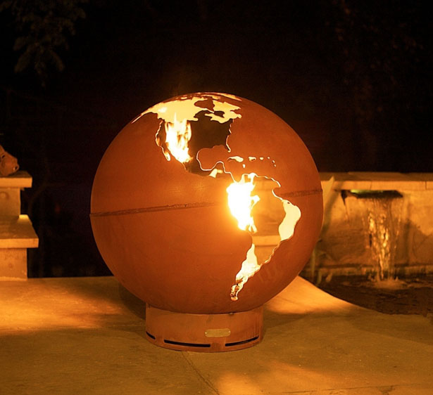 Set The World on Fire with Third Rock Fire Pit by Fire Pit Art