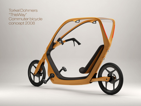 """""""ThisWay"""" Bicycle with Semi-Enclosed Design"""