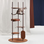 Three Poles Cat Tower by Jiyoun Kim Studio