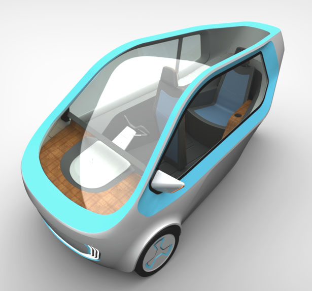 Three-Wheeled Car for Handicapped People by Filip Mirbauer and Jiri Krejcirik