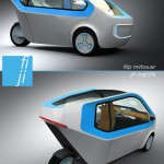 Three-Wheeled Car for Handicapped People or Senior Citizen with Limited Mobility
