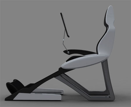 throne computer recliner concept
