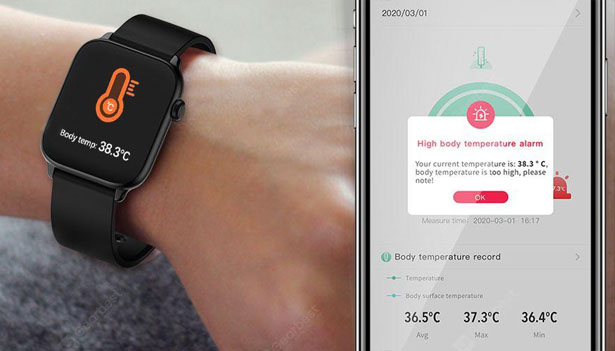 TicWris GTS Real Time Body Temperature Watch