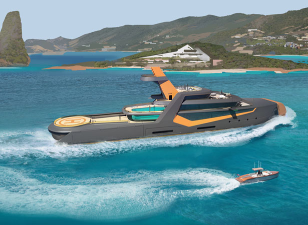 Time 66m Explorer Yacht by Henry Ward Design and BMT Nigel Gee
