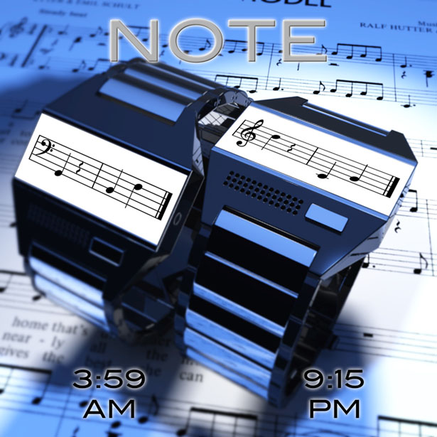 Time in Notes Watch Design
