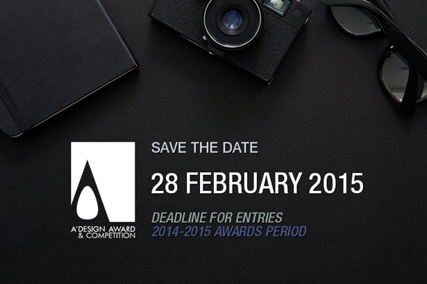 A' Design Awards & Competition 2015 - Last Call for Entries