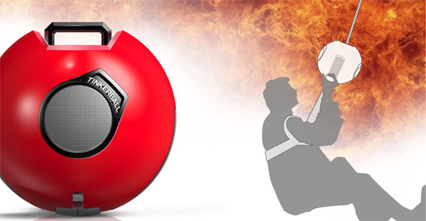 Tinkerball Life Rescue Device for Individual Escape From a High-Rise Building in An Emergency