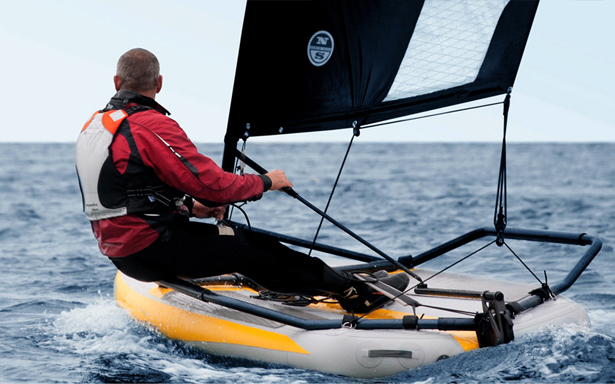 Tiwal 3.2 Inflatable Sailing Dinghy for Water Sports by Marion Excoffon