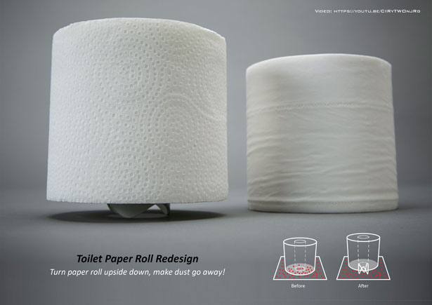 Toilet Paper Roll Redesign by Sheng-Hung Lee and Josipa Dodig
