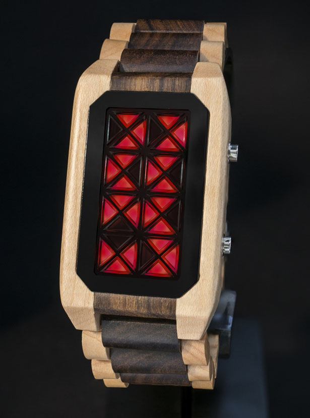 Tokyoflash Kisai Adjust Wood LED Watch by Nicolas Hélin