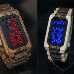 Tokyoflash Kisai Adjust Wood LED Watch Features LED Triangles to Display Time